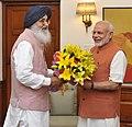 The Chief Minister of Punjab, Shri Parkash Singh Badal calling on the Prime Minister, Shri Narendra Modi, in New Delhi on August 31, 2015.jpg
