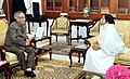 The Chief Minister of West Bengal, Kumari Mamata Banerjee calling on the President, Shri Pranab Mukherjee, at Rashtrapati Bhavan, in New Delhi on November 18, 2014.jpg