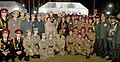 The Chief of Army Staff, General Bipin Rawat and Mrs. Madhulika Rawat with the Cadets from foreign countries, at the NCC Reception, in New Delhi on January 16, 2018.jpg