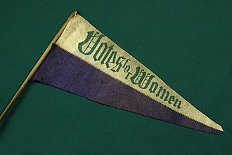 Votes for Women pennant The Childrens Museum of Indianapolis - Votes for women pennant.jpg