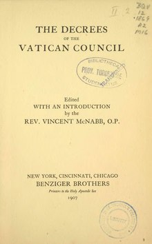 The Decrees of the Vatican Council.djvu