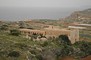 Farmhouse - The Devil's Farmhouse in Mellieħa, Malta, built by the Order of St. John with limestone