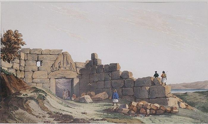 700px-The_Lion_gate_at_Mycenae_by_Th%C3%A9odore_Du_Moncel.jpg