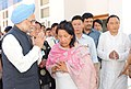 The Prime Minister, Dr. Manmohan Singh offering condolence to the family members on the demise of the former Chief Minister of Arunachal Pradesh, Shri Dorjee Khandu, in Itanagar, Arunachal Pradesh on May 06, 2011.jpg