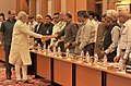 The Prime Minister, Shri Narendra Modi being introduced to the Secretaries to the Government of India, before the meeting with the Secretaries, in New Delhi on June 04, 2014.jpg