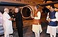 The Prime Minister, Shri Narendra Modi being received by the Governor of Uttarakhand, Dr. K.K. Paul and the Chief Minister of Uttarakhand, Shri Trivendra Singh Rawat, on his arrival, at Dehradun, Uttarakhand on June 20, 2018.JPG