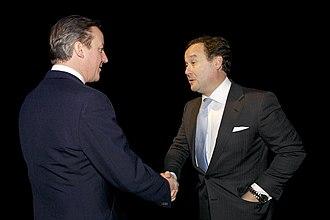 Rafael Serrano - The Right Honourable David Cameron, MP, and Rafael Serrano, London, February 2014
