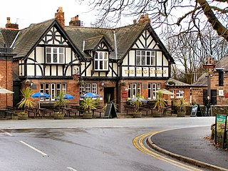 Daresbury village in Cheshire, England