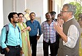 The Secretary, Ministry of Culture, Shri Raghvendra Singh reviewing the ongoing restoration, renovation and revamping works at the Belvedere House of the National Library, in Kolkata on July 19, 2018.JPG