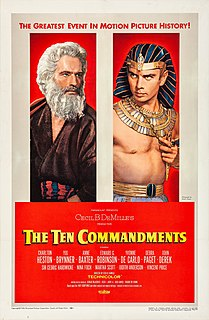 <i>The Ten Commandments</i> (1956 film) 1956 film directed by Cecil B. DeMille
