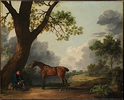 George Stubbs: The Third Duke of Dorset's Hunter with a Groom and a Dog