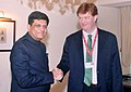 The Union Minister for Railways, Coal, Finance and Corporate Affairs, Shri Piyush Goyal meeting the Vice-President & Corporate Secretary, Asian Infrastructure Investment Bank, Mr. Danny Alexander, in Mumbai on June 24, 2018.JPG