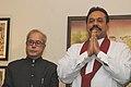 The Union Minister of External Affairs, Shri Pranab Mukherjee calls on the President of the Democratic Socialist Republic of Sri Lanka, Mr. Mahinda Rajapaksa, in New Delhi on November 28, 2006.jpg