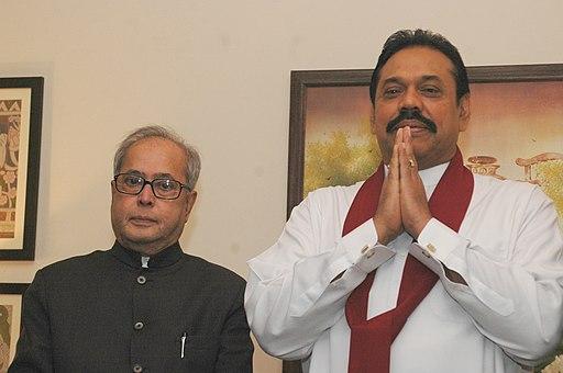 The Union Minister of External Affairs, Shri Pranab Mukherjee calls on the President of the Democratic Socialist Republic of Sri Lanka, Mr. Mahinda Rajapaksa, in New Delhi on November 28, 2006