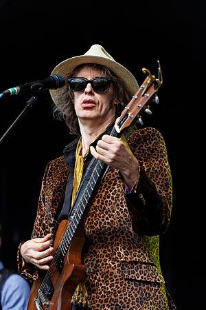 Mike Scott (musician) - Scott performing at a concert, 2012