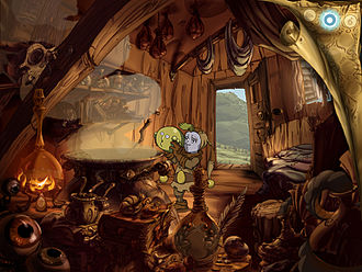 Adventure game - The Whispered World (2009) is an example of a context-based point-and-click adventure game using high-definition graphics and animation.