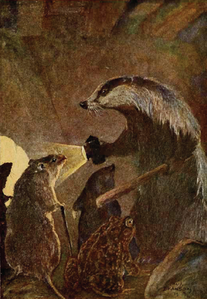 Badger - Badger, Ratty, Mole, and Mr. Toad from The Wind in the Willows