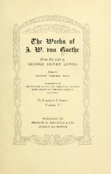 The Works of J. W. von Goethe, Volume 5.djvu