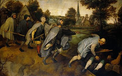 The blind leading the blind. Oil painting after Pieter Brueg Wellcome V0017252.jpg