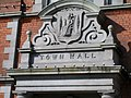 The crest of the old Newry Town Commissioners above the main door of the Town Hall - geograph.org.uk - 1557706.jpg