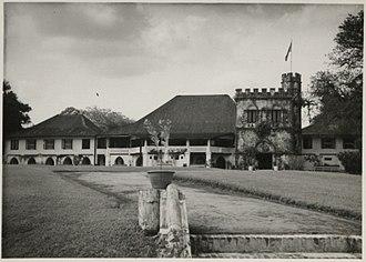 The Astana, Sarawak - Image: The front of Astana Sarawak in 1959