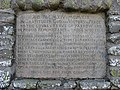 The inscription tablet on Yarrow War Memorial - geograph.org.uk - 695364.jpg