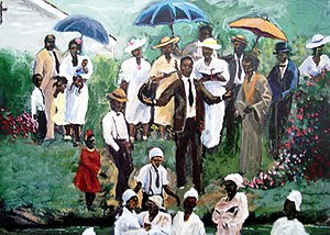 Ted Ellis (artist) - Thee Baptism, Ted Ellis' first widely sold art.