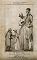 Thomas Allen and Lady Morgan, dwarfs. Engraving, 1803. Wellcome V0006962.jpg