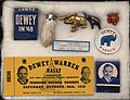 Thomas E Dewey presidential campaign items, 1948.jpg
