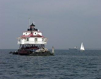 Thomas Point Shoal Light - Image: Thomas Point Lighthouse Chesapeake Bay