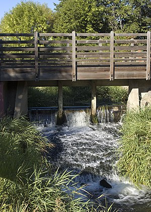 Thorp, Washington - Millrace weir at the historic Thorp Mill.
