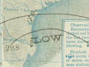 1910 Atlantic hurricane season - Image: Three 1910 09 14 weather map