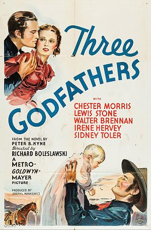 Three Godfathers (1936 film) - Theatrical release poster