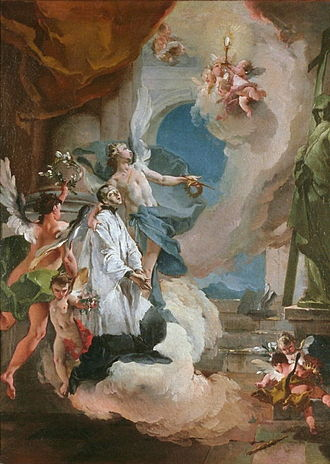 Aloysius Gonzaga - Saint Aloysius Gonzaga in Glory by Giovanni Battista Tiepolo, incomplete provenance