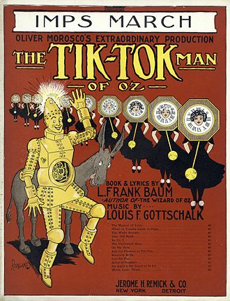 The Tik-Tok Man of Oz - Cover of sheet music for the Imps March
