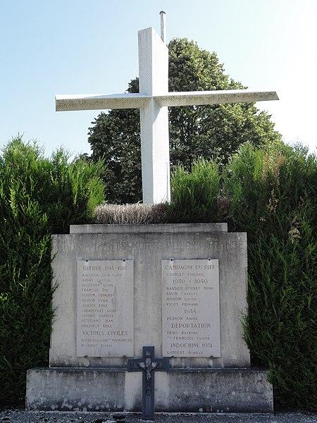 Tilly-sur-Meuse (Meuse) monument aux morts au cimetière