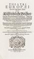Titelblad till boken Theatri Europæi, 1663 - Skoklosters slott - 99885.tif