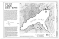 Title Sheet - Hume Lake Dam, Sequioa National Forest, Hume, Fresno County, CA HAER CAL,10-HUME,1- (sheet 1 of 4).png