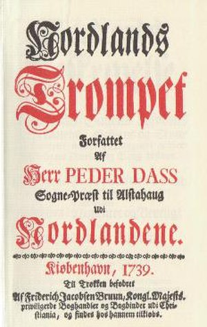 1739 in Norway - Titlepage of Nordlands Trompet.
