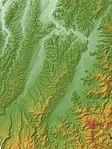 Tokamachi Basin & Muikamachi Basin, Relief Map, SRTM-1.jpg