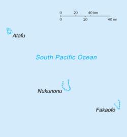 Location of Tokelau