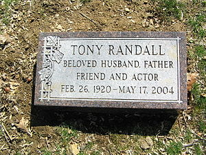 Tony Randall - Randall's headstone in Westchester Hills Cemetery