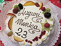 Torta di compleanno - Birthday cakes of Italy - fruit Meringue Whipped cream - Named Fabiola.jpg