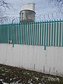 Tower behind barbed wire, Sibrik Miklós út, 2018 Kőbánya.jpg