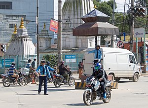 Nepal Police - Traffic Police in Kathmandu is challenging for the officers due to high pollution in the city.
