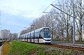 Tramlijn 25 met 15G tram op de openingsdag bij de voormalige halte Amstelveen Spinnerij.jpg