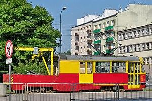 Tramwaj remontowy Warszawa