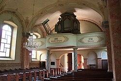 Trebesing - Evangelische Kirche - Blick auf die Orgelempore.JPG