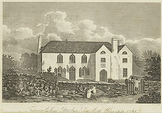 Howell Harris - Trevecca College, from an engraving, 1824