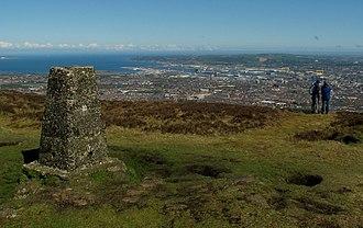 Black Mountain (Belfast) - Triangulation pillar on Black Mountain